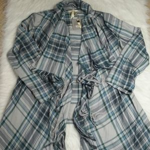 "Matilda Jane ""Form A Line"" Flannel Jacket Small"